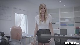 Secretary MILF banged and blowjob by a corrupt boss