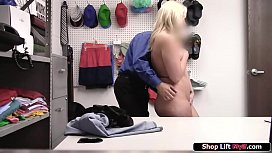 Milf shoplifts and the officer fucks her