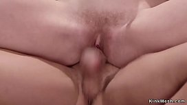 Hairy pussy trainee rough fucked
