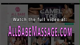 Blonde masseuse scissors