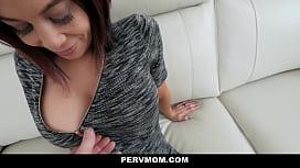 MILF redhead stepmom fucked by a stepson in POV video