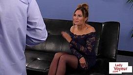 British voyeur babe enjoys wanking session