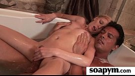 AMAZING body in a hot soapy massage 1