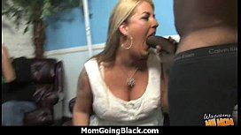 Big tits white cougar fucks a lucky black guy 18