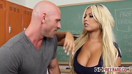 Horny Teacher Bridgette B. fucks her student at school