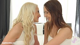 Sensual lesbian scene by Sapphix with Taylor Sands and Anastasia Blond - Fingeri