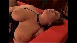 Hot BBW masturbation in black lingerie