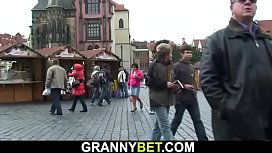 He picks up 70 years old granny tourist