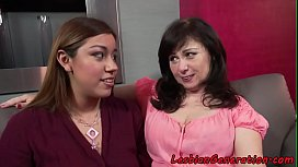 Chubby teen pussylicked by mature slut