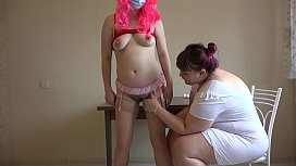 Vaginal fisting for a pregnant patient. Lesbians love medical fetish games. The doctor fucked milf'_s hairy puffy pussy on the table.