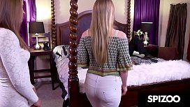 Beautiful blonde PETITE fucked hard by a huge cock, April Brookes - Spizoo