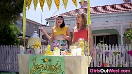 Hairy lesbian babe Marina licked by her friend Zelder