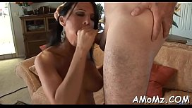 Lustful mature is insane about cock