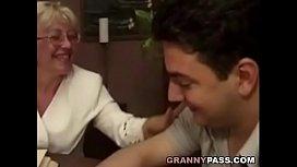 Granny Teacher Flirts With Her Student