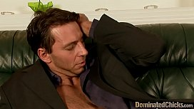 Gagged slave gets bent over and roughfucked