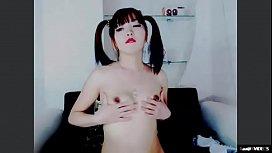 Thai Asian skinny Teen masturbation on web can