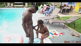 Black sex in the backyard
