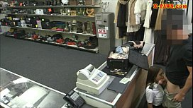 Cute amateur latina FA pawns her pussy at the pawnshop