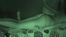Massage Therapist Gives Vibrator Happy Ending to Long Lean Hottie