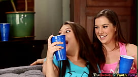 Trimmed beauty tribbing lesbian teen babe