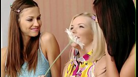 Wicked and so sex appeal lesbians are relaxing before cam