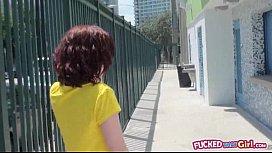 Redhead gf Emma OHara hairy pussy fucked in toilet