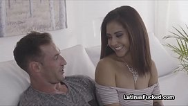 Curvy Latina bends over for fat dicking