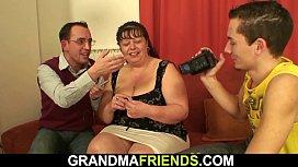 Fat mommy threesome fucking