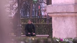 Lucia Nieto is back in FAKings to suck stranger'_s dicks right in the public park