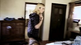 Banged blonde taboo teen