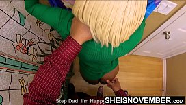 HD StepDaughter Pulled Off The Toilet !!! Rough Fucked By Step Dad For Stealing His Money, Cute Black Msnovember Abusive Fauxcest Punishment , Neck Grabbed Standing Rough Doggystyle , Tiny Pussy Pounded , Big Saggy Boobs Ripped Out 4k By Sheisnovember
