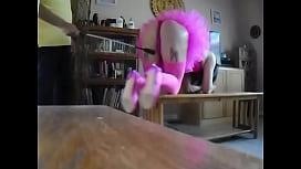 Pink sissy spanking