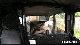 Taxi driver fucks his hairy passenger