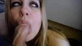 GAGGING THROAT JOB BY WIFE