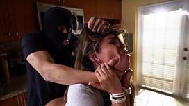 ABUSEME - Teen Nicole Rey Gets Her Burglar Fantasy Fulfilled