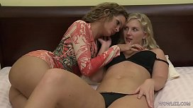 Natalie Nice having fun with an experienced lesbian babe