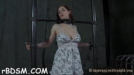 Cutie in latex dress gets wild pussy and anal prodding