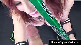 Pussy Pucker Shanda Fay Mouth Pucks A Hockey Cock For Cum!