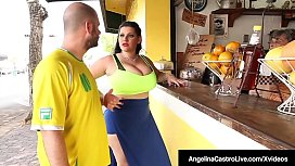 Cuban BBW Angelina Castro Pussy Pounded By A Long Cock!