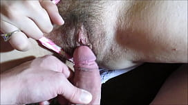 Sexy Hairy Pussy Teased By Hard Dick