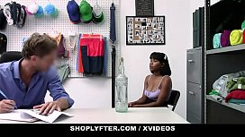 ShopLyfter - Cute Black Girl With Huge Tits Gets Fucked Hard