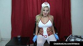 JOI Nurse Cristi Ann Helps You Cum For The Sperk Bank!