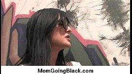 Interracial cougar porn from Watching My Mom Go Black 18