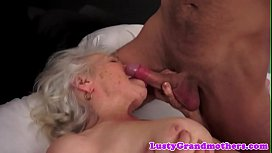 Bigtits grandma pounded from behind