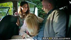 Brazzers - Moms in control - Teens In The Backseat scene starring Angel Wicky Jimena Lago and Sam Bo