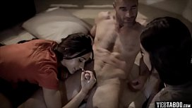 Horny uncle returns with a threesome scene