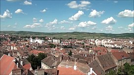 Top View of Sibiu Romania