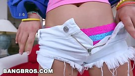 BANGBROS - Eighteen year old Ashley Adams takes a hard pounding (bbe14427)