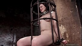 Hairy twat brunette bdsm banged
