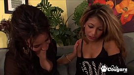 Stephani Moretti and Veronica Rodriguez Have Some Sweet Oral Sex